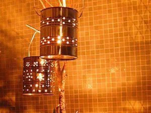 luminarias recicladas